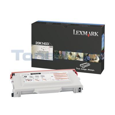 LEXMARK C510 TONER CART BLACK 10K